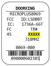 This is an example of a device label.